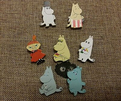 Moomin Valley Characters Mini Wooden Pin 7 Pieces set