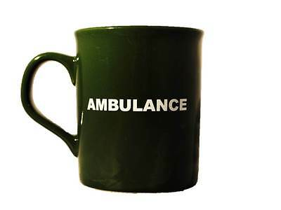 Green AMBULANCE Ceramic Mug / Cup for  Paramedic St John Medic EMT Doctor Coffee