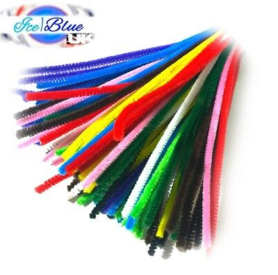 "Chenille Stems 15cm 6"" Pipe Cleaners for Craft - Single or Assorted Colour Packs"