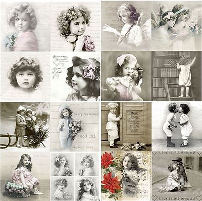 2 Paper Napkins for Decoupage and Craft. VINTAGE GIRL , children