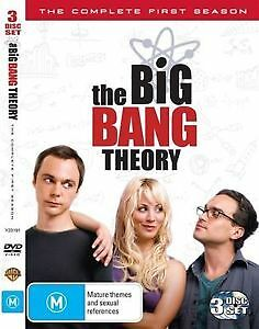 The Big Bang Theory- The Complete First Season (Dvd, 3-Disc Set) R-4, Like New