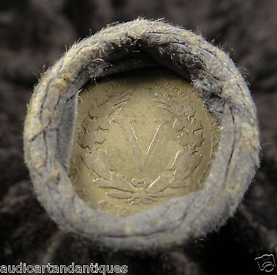 Reverse + Tail Liberty Head V Nickel 5C Old 40 Coin Collector Old OBW Bank Roll