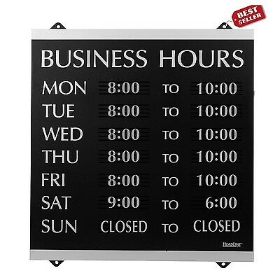 Business Hours Sign Custom Store Shop Time Display Open Close Board