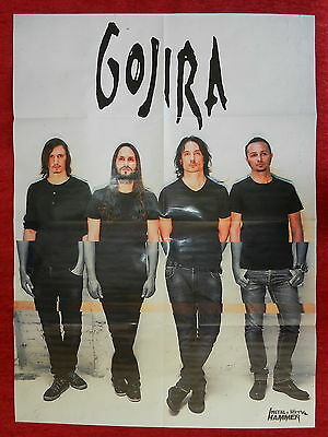 Gojira Sir Christopher Lee Metal Hammer foldout double sided Poster NEW