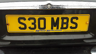 Private number plate - S30 MBS