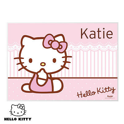 Hello Kitty Bow Placemat - Personalised