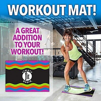 Workout Mat - Simply Fit Board All Floor Protection Training Exercise NEW