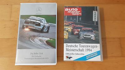 2x alte DTM Video Original VHS Mercedes 190 W201 C-Klasse Alfa 155 Opel Calibra