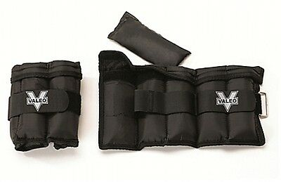 Valeo Adjustable Ankle and Wrist Weights Workout Gym Yoga 5lb Pair
