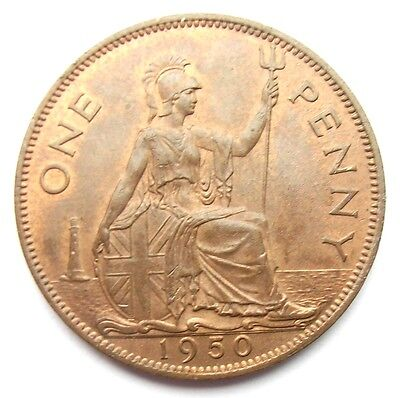 George VI 1950 Penny Uncirculated Mint Lustre