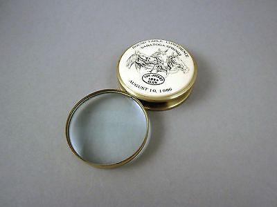 Vintage folding magnifying glass loupe magnifier The Jockey Club, horse racing