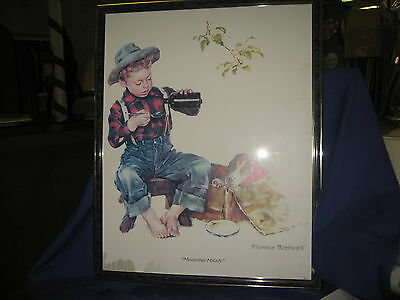 """Norman Rockwell """"Mysterious Malady"""" Picture 16x20"""
