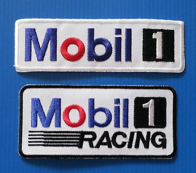 2 Lot MOBIL 1 RACING  Embrodered Iron Or Sewn On UNIFORM Patches Free Ship