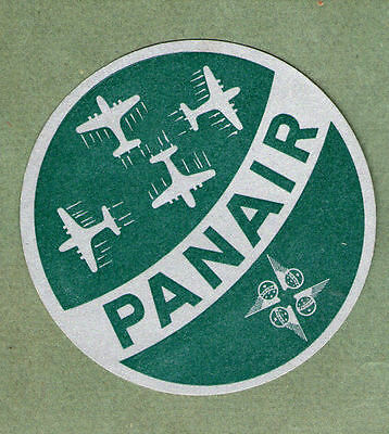 Airline luggage label PANAIR  #731