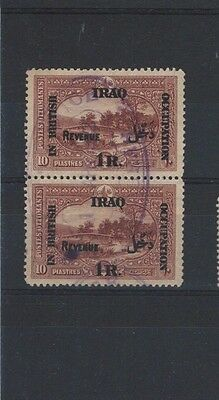 Middle East -  Iraq Mesopotamia early revenue stamp pair
