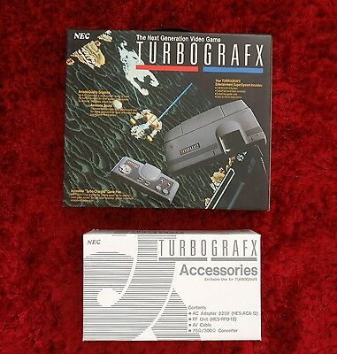 NEW Turbografx 16 PAL Console + GAME + Accesories, UK & EU Shipping