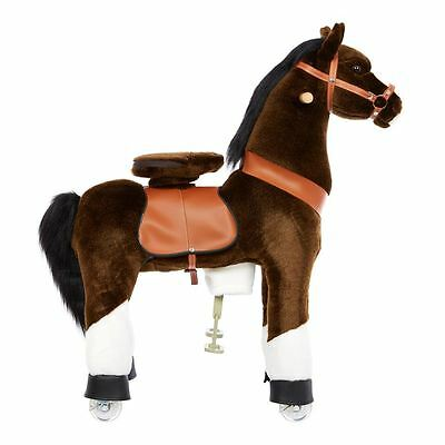 Pony Cycle Ride-On Pony Horse Outdoor Kids Play Riding Steering Medium Brown New