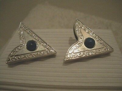 Collar Tip Jewelry Silver & Turquoise Pointed Collar Clip Ons $70 Value - NWOT