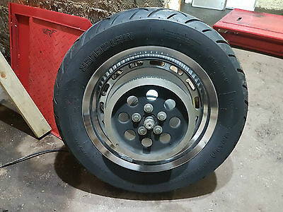 "Harley Sportster Rear Wheel 16"" Solid With Pulley 3/4"" Bearings"