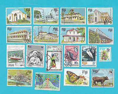FIJI COLLECTION OF USED STAMPS.lot#339