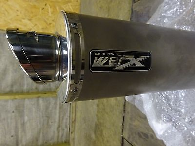 PIPE WerX stainless motorcycle exhaust/end can road legal removable baffle