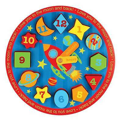 Wooden Clock Puzzles Space 794866619987