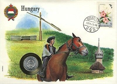 Hungary COVER with COIN in Pristine Condition