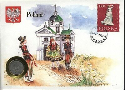 Poland  COVER with COIN in Pristine Condition