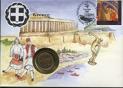 Greece COVER with COIN in Pristine Condition