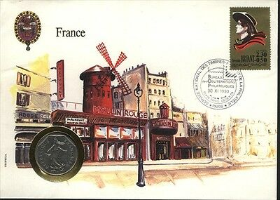 France COVER with COIN in Pristine Condition
