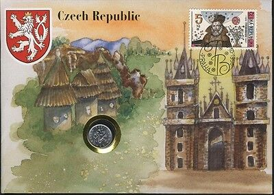 Czech Republic COVER with COIN in Pristine Condition