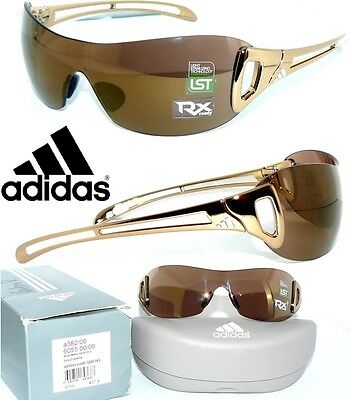 Adidas A382 Sonnenbrille GOLD ADILIBRIA SHIELD 383 A380 SportBrille ELEVATION RX
