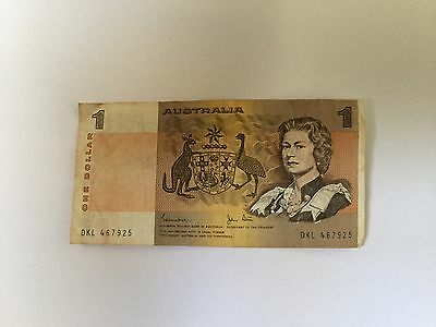 AUSTRALIA ONE DOLLAR NOTE NICE CONDITION. Free Post. See Pics.
