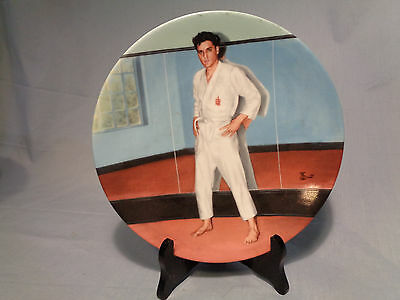 """Elvis Presley Collector Plate Looking at a Legend- """"Going For The Black Belt """""""