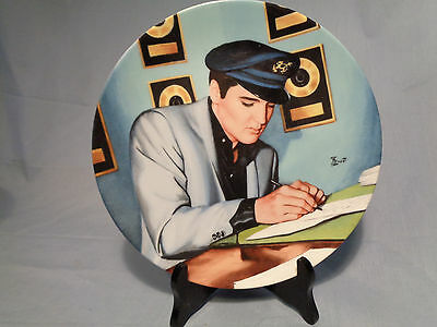 """Elvis Presley Collector Plate Looking at a Legend- """"Closing The Deal """""""
