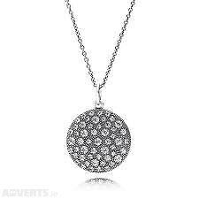 New in Box Genuine Pandora Sterling Silver Cubic Zirconia 90cm Pendent