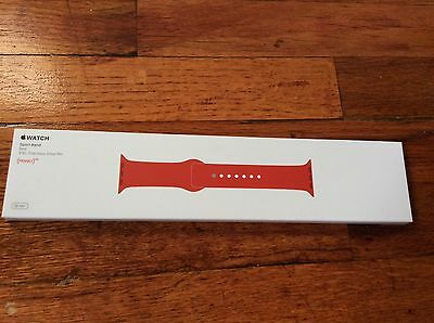 BRAND NEW Genuine Apple Watch Sport Band (Product)Red 38 MM SS Pin MLD82ZM/A