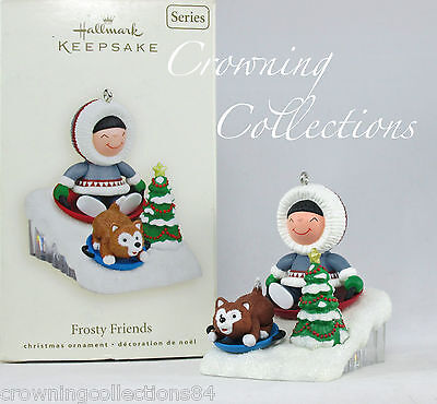 2008 Hallmark Frosty Friends Keepsake Ornament Dog Sledding 29th in Series #29