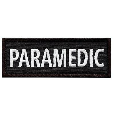 """paramedic 5""""x2"""" body armor medical EMS EMT embroidered morale hook patch"""