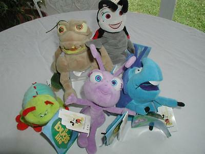5 Tagged Mini-Bean Bag Disney 'a Bug's Life-P.t.flea,heimlich.,dot, Francis,dim