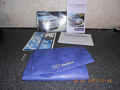 Daewoo Kalos Set Of Owners Hand Books From A 2005 Model