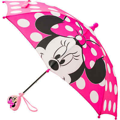 Minnie Mouse Baby Toddler Girl Umbrella Disney Pink Colorful Handle FreeShipping