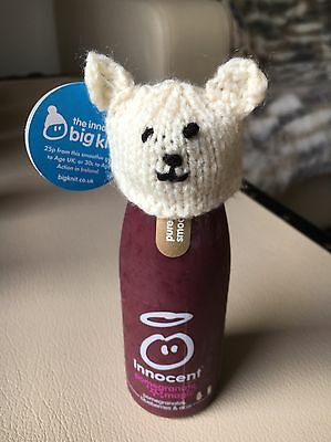 BNIB Innocent Smoothie LITTLE HAT Big Knit PANDA Collectable Pattern Doll TOY
