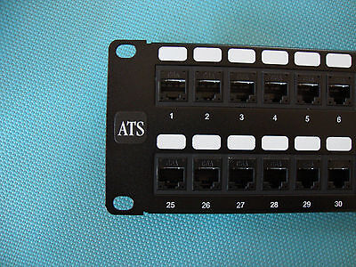 Cat 6, 48 Port In Line Coupler/Feed Thru Patch Panel