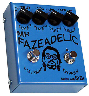 SiB Fazeadelic Phaser Pedal Hand Built Boutique Effects Made in USA