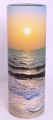 Ashes Scatter Tube Adult, Biodegradable Cremation Funeral Memorial Large, SUNSET