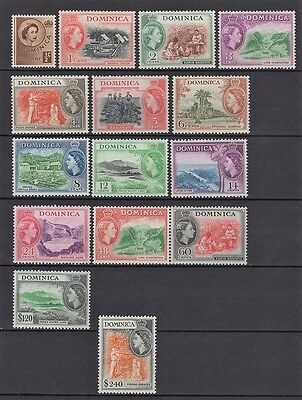 Dominica 1954 Pictorial Set With Qeii Portrait Superb Mnh/og Cat $80.00