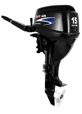 15 HP Parsun Outboard, short shaft, manual start