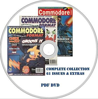 COMMODORE FORMAT magazine ALL 61 ISSUES + EXTRAS! PDF on DVD C64 games retro