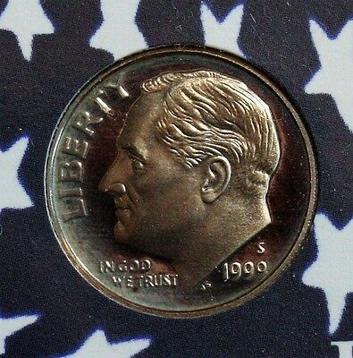 1999 S 10C Proof Roosevelt Dime - FREE SHIPPING